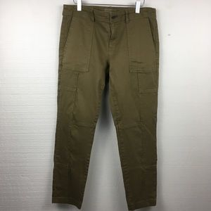 Banana Republic Olive Green Skinny Ankle Pants